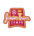 emblem of soccer junior team vector image