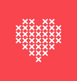 heart cross stitch vector image