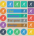 Ice skating icon sign Set of twenty colored flat vector image