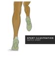 runner legs vector image