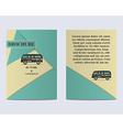 Travel Brochure Flyer design Layout template Rv vector image
