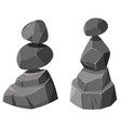 two stacks of rocks vector image