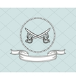 crossed swords emblem image vector image