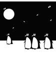penguins funny vector image vector image