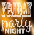 Friday party night quote Square card with label vector image