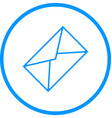 message envelope line icon vector image