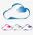 a cloud of different colors set vector image