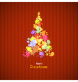 Retro Christmas Tree Made From Splashes vector image vector image