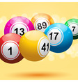 3d bingo ball background vector image vector image