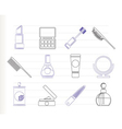 cosmetic and make-up icons vector image vector image