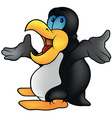 Penguin Talking vector image vector image