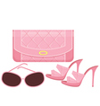 female bag shoes and sun glasses vector image vector image