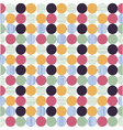 polka dot fabric wallpaper vector image