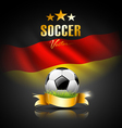 Football and flag of germany vector image