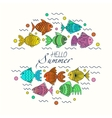 frame for text with fish vector image