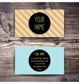 Business card template with creative retro pattern vector image
