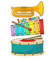 Different type of musical instrument vector image