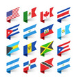 flags of the world north america vector image