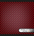 pattern seamless carbon fiber red under vector image