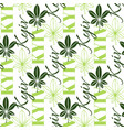 seamless chestnut leaves pattern background with vector image