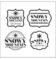 snowy mountain frame set isolated icon design vector image