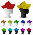 color visor template on mannequin head vector image