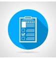 Document form blue round icon vector image