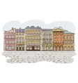 Antique European street Summer city landscape Pan vector image vector image