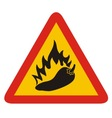 hot pepper sign vector image