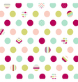 polka dot fabric wallpaper vector image vector image