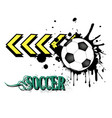 background abstract soccer ball from blots vector image
