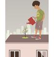 City garden vector image
