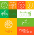 Organic juice - packaging design elements vector image