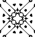 Seamless pattern with hearts Monochromatic vector image