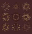 Set of Retro Sun burst shapes for your next vector image
