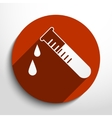test tubes web icon vector image