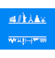 tourism and travel frame vector image