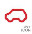 Eco Car Logo Template Design vector image