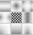 Black and white triangle pattern design set vector image