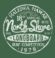 North Shore Surf Themed Vintage Design vector image vector image