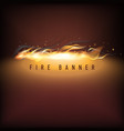 fire business promotion vector image