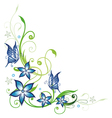 Blue flowers series vector image