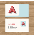 business card letter A vector image vector image