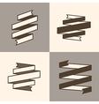 Retro Ribbon Banner design elements vector image