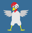 Chicken color vector image