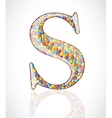 Abstract letter S vector image
