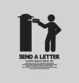 Man Sending A Letter Graphic Symbol vector image vector image
