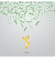 Background with money falling from above vector image vector image