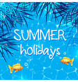 Blue summer marine background vector image vector image