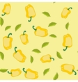 Yellow pepper seamless texture 562 vector image